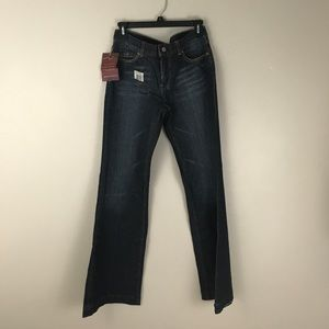 New! 7FAMK dojo Size 28 Dark wash bootcut jeans